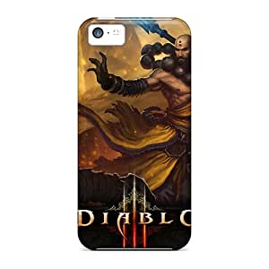 Scratch Protection Hard Phone Cover For Apple Iphone 5c With Allow Personal Design High Resolution Diablo 3 Monk Pattern Best-phone-covers