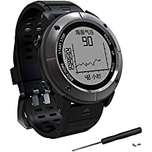 GPS Hiking Smart Watch,Adventurer Outdoor Sports Waterproof Watch,Multi-function Mode,for Tracking Running,Hiking,Heart Rate Monitor,SOS,Compass,Watch Connect with Smart Cellphone APP(UW80C/UW80