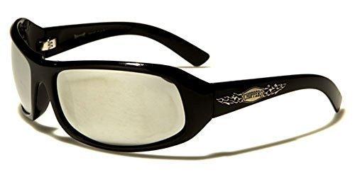 femme Lunettes de argenté UV400 verres miroir noir Protection inclus Designer rectangle Hutt vibrant Enveloppantes GRATUIT poche soleil COMPLET NEUF motard Chopper homme wAtYYg