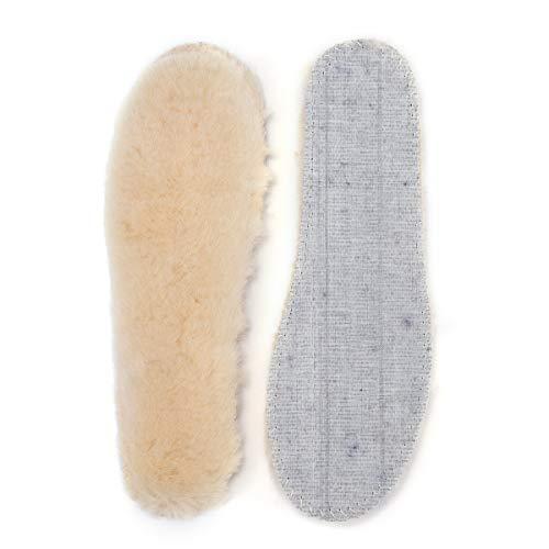 OZZEG Insole Woman Australia Sheepskin Boots Accessories Wool Fur Inserts (EVA Sole, 8 US)