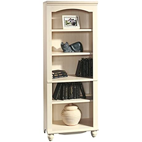 Premium Bookcase Office Furniture Sauder White Wood Antique With 5 Shelf Country