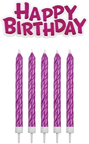PME Happy Birthday Plastic Pic /& 16 Pink Candles Standard,