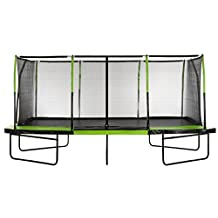 Upper Bounce Easy Assemble Spacious Rectangular Trampoline with Fiber Flex Enclosure Feature