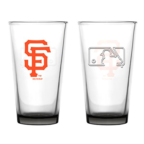 San Francisco Giants Embossed Pint Glass 16 oz. (2 pack)