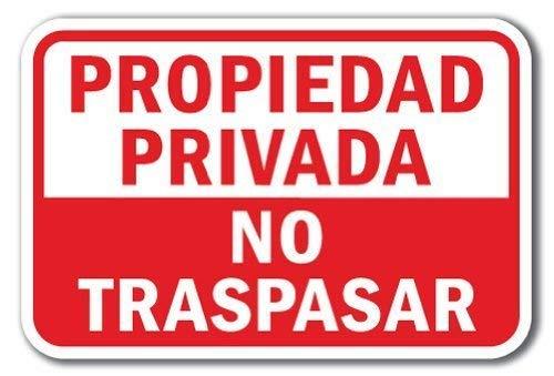Toddrick Propiedad Privada No Traspasar Cartel de Chapa ...