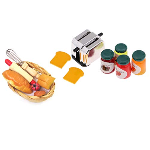 NATFUR 1:12 Dollhouse Miniature Kitchen Groceries Food Table Decoration Accessories from NATFUR