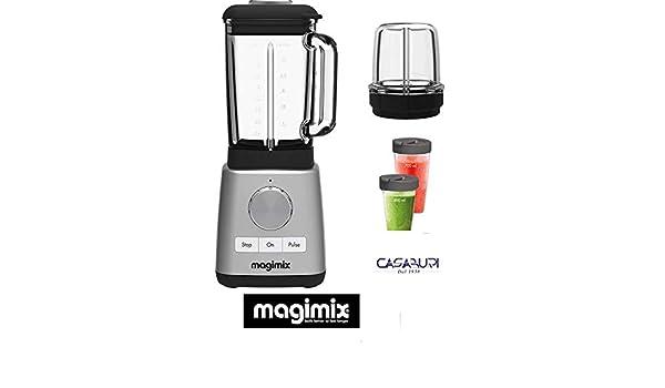 Magimix Power Batidora Blender cromo 0650 new 1300 w 22000 g (con 2 accesorios: Minibacinella +- blender cup): Amazon.es: Hogar