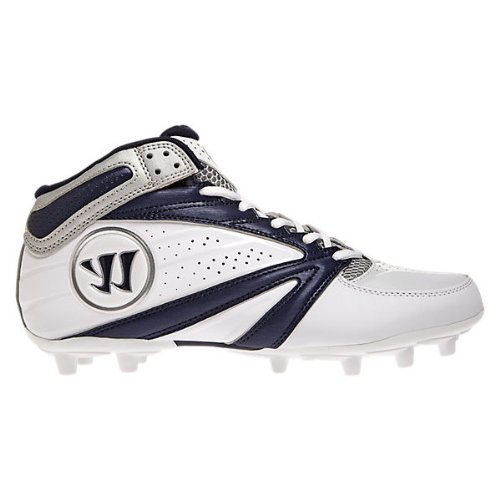 Warrior Men's 2nd Degree 3 Lacrosse Shoe, White/Blue, 12 D US