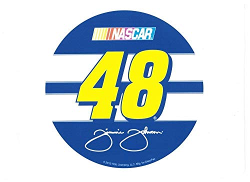 Jimmie Johnson Birthday - Nascar Logo Jimmie Johnson 48 Signature Edible Cake Topper Image ABPID07681 - 1/8 sheet