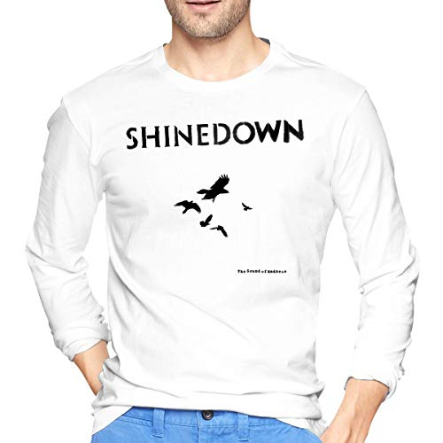 AlbertJ Mens Shinedown The Sound of Madness Long Sleeve Tees White L