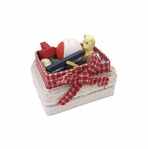 Twenis 1/12 Dollhouse Decor Miniature Toy Storage Set for Dolls Nursery Room with Bear, Buliding Blocks and Balls from Twenis
