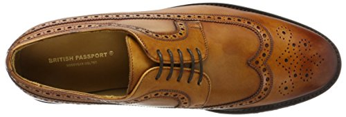British Passport Wing Cap Derby Brown – Herren