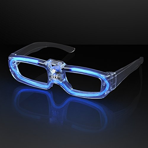 Blue Sound Activated LED Light Up Party Glasses]()