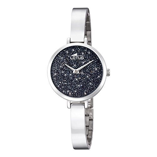 Lotus Bliss Watch for woman black dial Swarovski crystals 18561/2