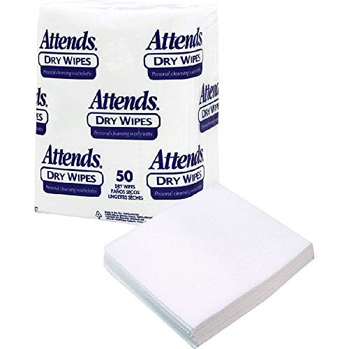 Attends Dry Wipes, 10'' x 13'', Medium-Weight (Case of 1000)