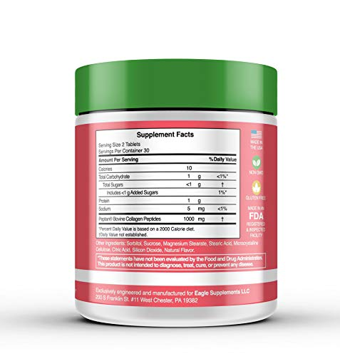 Cravze - Collagen Chewable Tablets with Protein. Craving Suppression Sweet Treat Candy