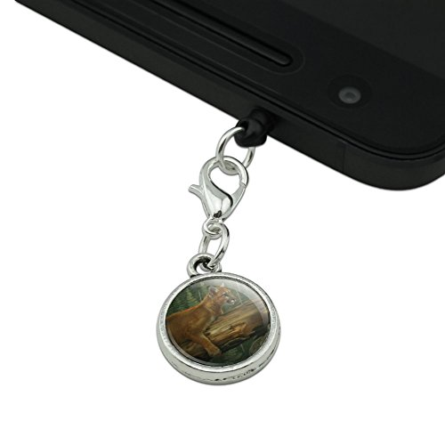 70%OFF Cougar Mountain Lion on Fallen Tree Mobile Cell Phone Headphone Jack Anti-Dust Charm fits iPhone iPod Galaxy