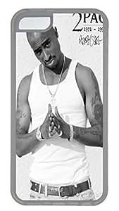 iPhone 5S Case VUTTOO Tupac Outlaw TPU Custom iPhone 5C Case Cover - Transparent