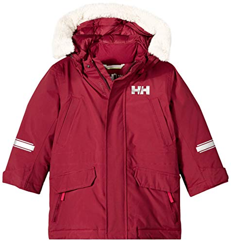 Helly Hansen K Isfjord Down Parka Jacket, Cabernet, Size 3