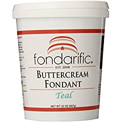 Fondarific Buttercream Teal Fondant, 2-Pounds