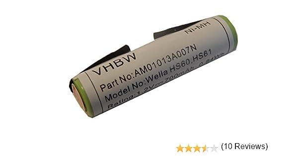 vhbw batería 1300mAh (1.2V) para máquina cortadora de pelo Wella ...
