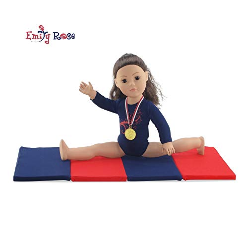 Emily Rose 18 Inch Doll Clothes | Gymnastics Leotard with Mat and Gold Medal! l Fits 18