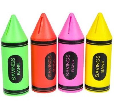 Crayon Piggy Banks (4 Pack) ()