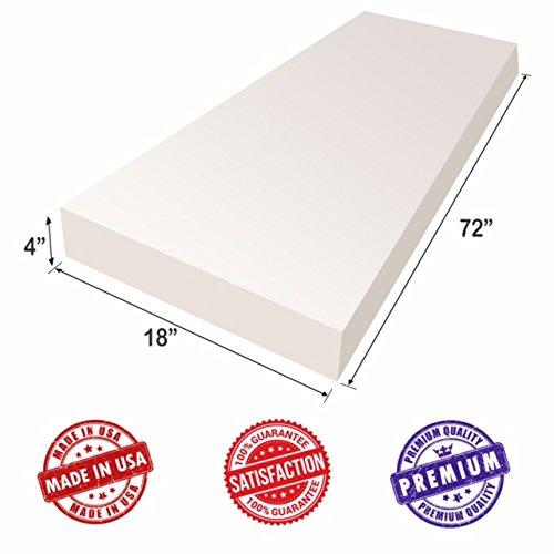 "Upholstery Foam Cushion Sheet- 4""x18""x72""-High Density Su..."
