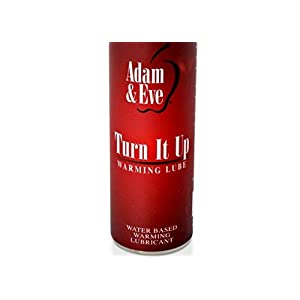 NEW Turn It Up Warming Water Based Lubricant Intense warming sensations on contact Great for warm full body massages Formulated with Peppermint Oil - 4 fl oz.