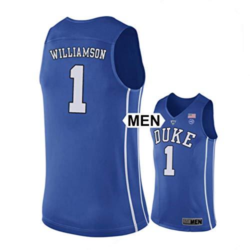NBFans 2018 Williamson no. 1 Stitched Duke Blue Devils Mens College Basketball Jersey (Blue, Mens L)