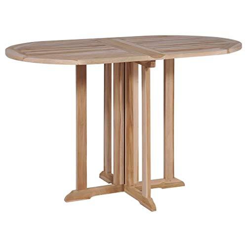 Festnight Outdoor Garden Patio Wood Folding Butterfly Dining Table, Solid Teak 47.2″ x 27.6″ x 29.5″