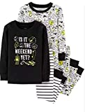 Carter's Boys' 4-Piece Snug Fit Cotton Pajamas (Black/Weekend Yet, 14)