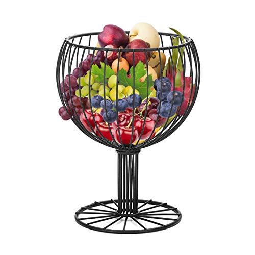 Four bamboos Fruit Basket Bowl like Wine Cup Vegetable Bowl, Black