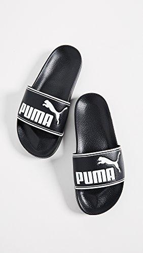 PUMA Women's Leadcat Slides, Black White, 7.5 B(M) US