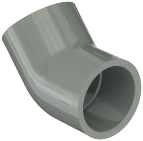 45 Degree Slip Elbow - GF Piping Systems CPVC Pipe Fitting, 45 Degree Elbow, Schedule 80, Gray, 1-1/4