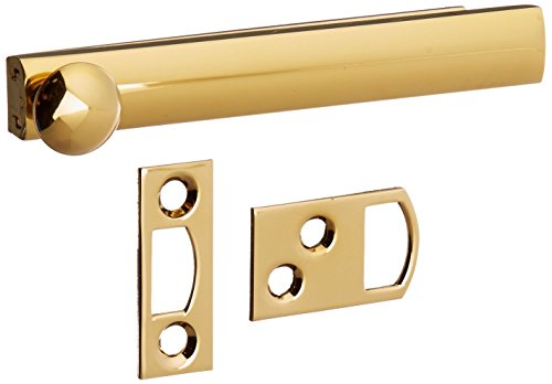 Baldwin 0322003 Surface Bolt, Lifetime Brass (Entrance Mortise Style)