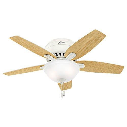 Hunter Fan Company 51080 Newsome Ceiling Fan with Light, 42''/Small, Fresh White by Hunter Fan Company (Image #8)
