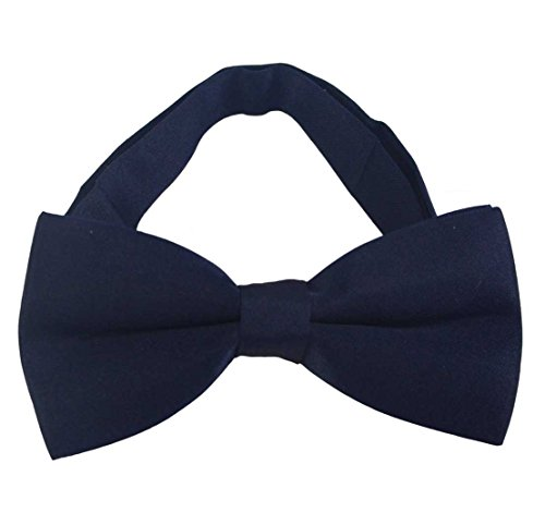 SYAYA Mens Male boy Classic Pre-Tied Formal Tuxedo Bowtie Adjustable Large BT1 (navy blue)]()
