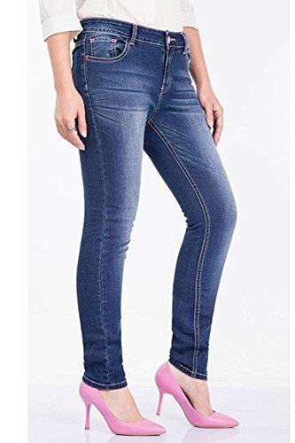Juniors Elasticizzati Jegging Jeans Simgahuva Blu Magro Alto Donne 5Yw8zxgqB