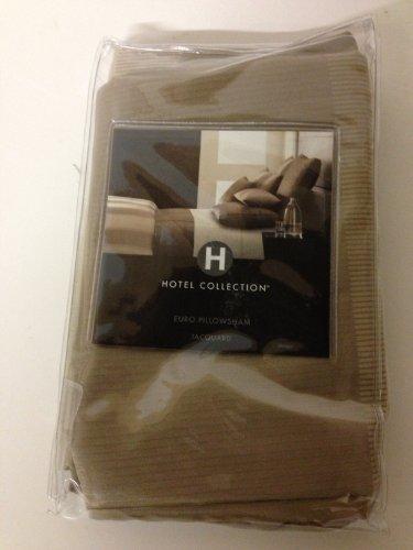 Hotel Collection Wide Stripe Euro Pillow Sham Bronze