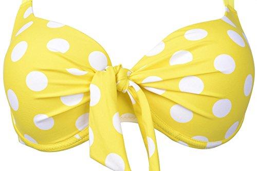 Damen Tankini Chicswim Weiß Gelb