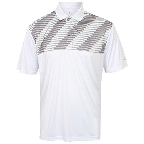 Logo Print Polo (Island Green 2017 Logo Sleeve Print Effect Performance Polo Cool Pass Mens Golf Polo Shirt White XXL)