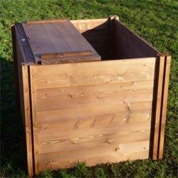 Holz Komposter Mit Deckel 75 Cm X 90 Cm X 90 Cm Amazon De Garten
