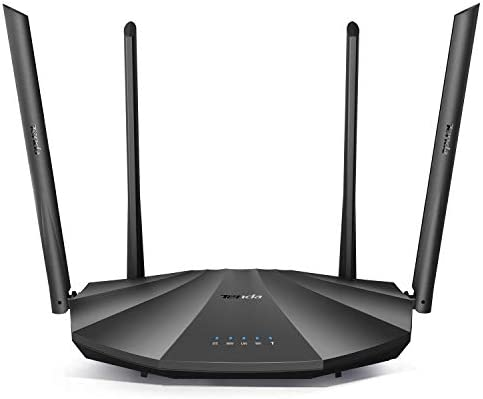 Tenda AC2100 Smart WiFi Router AC19 - Dual Band Gigabit Wireless (as much as 2033 Mbps) Internet Router for Home | 4 LAN Ports+1 USB Port | 4X4 MU-MIMO Technology | Parental Control Compatible with Alexa