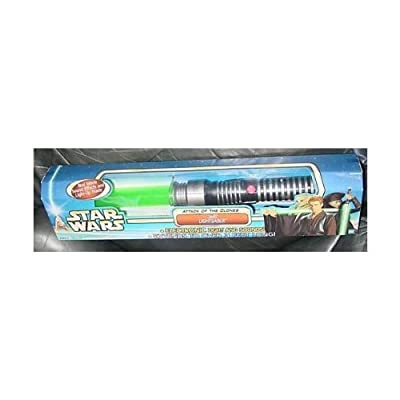 Star Wars Attack of the Clones Jedi Lightsaber Electronic Lights and Sounds: Toys & Games