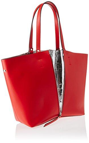 Chicca Borse 8608, Borsa a Spalla Donna, 33x30x13 cm (W x H x L) Rosso (Red)