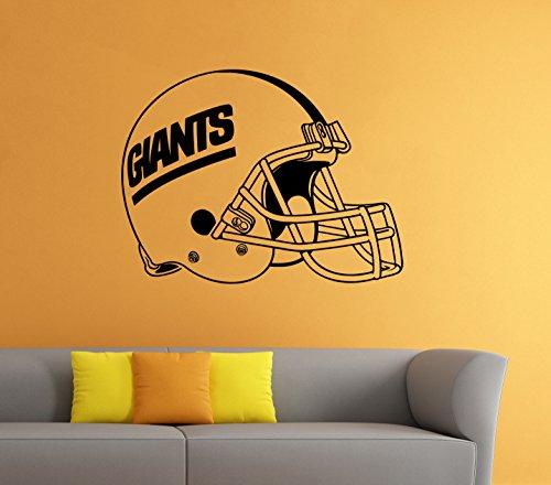 New York Giants NFL Vinyl Decal Football Helmet Sticker Wall Logo Sport Home Interior Removable Decor (22