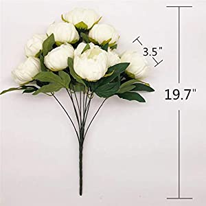 SHINE-CO LIGHTING Artificial Peony Silk Flowers Bouquet Glorious Moral for Home Office Parties and Wedding 3