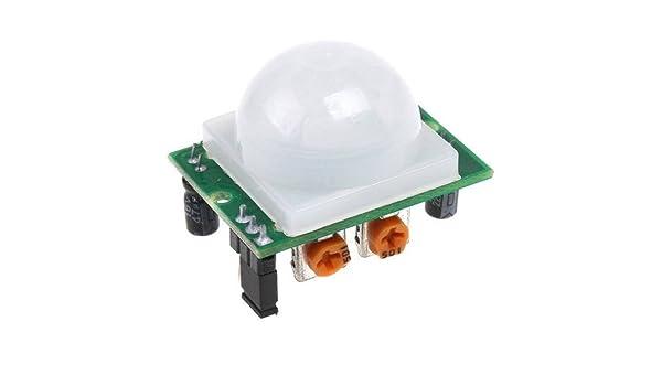 5 piezas AD-007 HC-SR501 ajustable IR Sensor de movimiento PIR Detector infrarrojo piroeléctricas módulo: Amazon.es: Electrónica