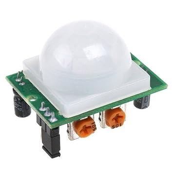 5 piezas AD-007 HC-SR501 ajustable IR Sensor de movimiento PIR Detector infrarrojo
